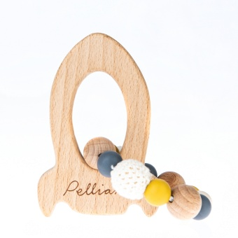 Rocket Teether - Mustard - Pellianni