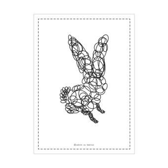 Bunny poster - White - Adore us babies