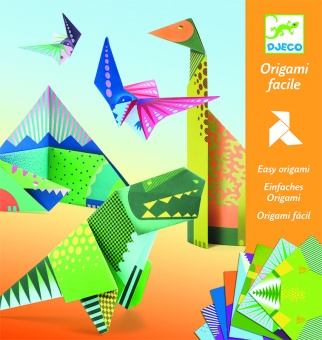 Origami paper friends - Dinosaurs - Djeco