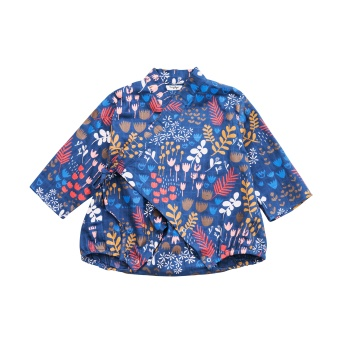 Flower Meadow Night - Kimono Body - Tiny Rym