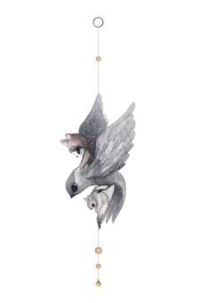 Walldecoration - Flying Sparrow - Mrs Mighetto