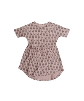 Bunny Swirl Dress - HuxBaby