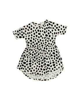 Leopard Swirl Dress - HuxBaby
