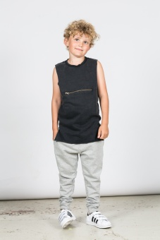 Leo Singlet Zip - Black - I Dig Denim