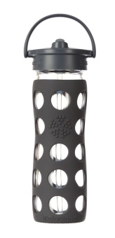 Straw Bottle 450 ml - Carbon - Lifefactory
