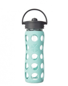 Straw Bottle 450 ml - Turkos - Lifefactory
