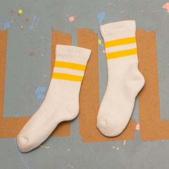 Tubsocka - White & Yellow - Lillster