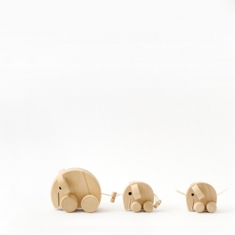 Mabel - Set of Wooden Elephants - Sarah and Bendrix