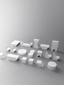 Mini Furniture - White - Rock and Pebble
