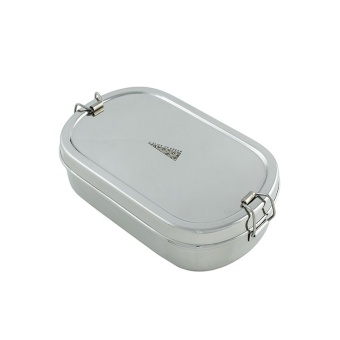 Oval Lunch Box + Mini Container - A Slice Of Green