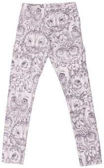 Owl leggings - Cream - Soft Gallery