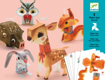Origami Paper Friends - Pretty Wood - Djeco