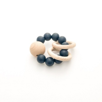 Saturn Teether - Black - Dove and Dovelet