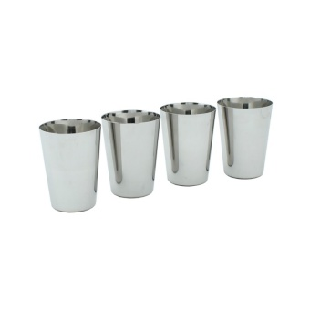 Stainless steel cups - 4 st - A Slice Of Green