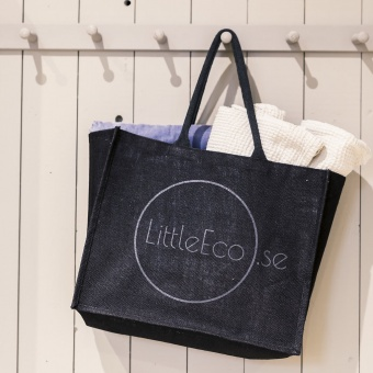 Shoppingbag Medium Svart Jute - Littleeco