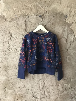 Flower Meadow Night - Sweatshirt - Tiny Rym