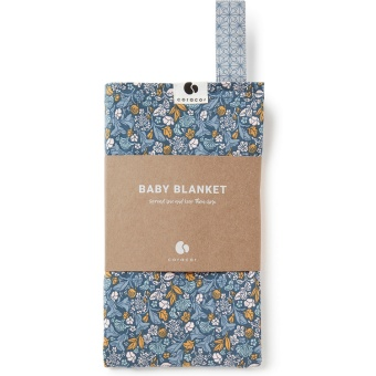 Babyfilt - Tinyflower Blue - Coracor