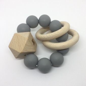 Titan Teether - Grey - Dove and Dovelet