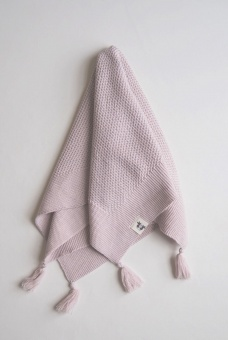 Tyra Knitted Blanket - Pink - By Heritage