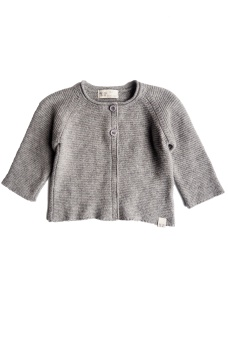 Uni Knitted Cardigan - Grey Melange - By Heritage