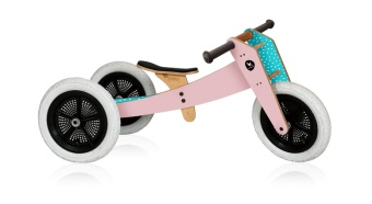 3 in 1 bike balanscykel -  Rosa - Wishbone design