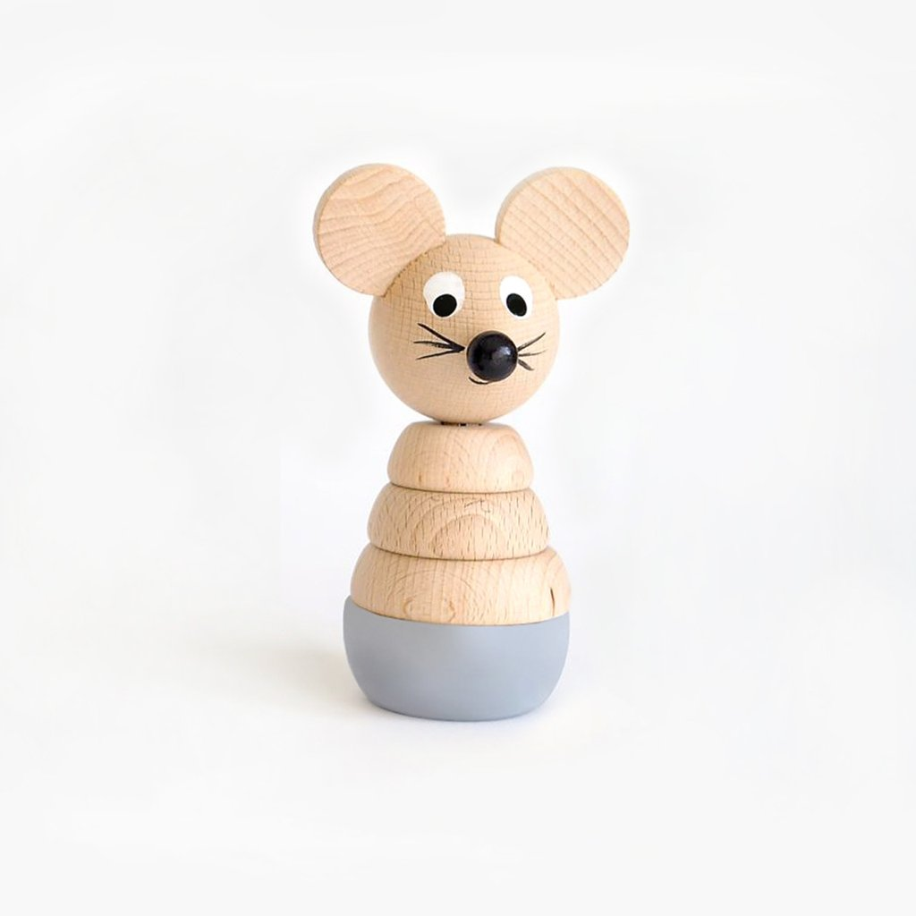 Cecil - Wooden Stacking Mouse Toy - Sarah and Bendrix