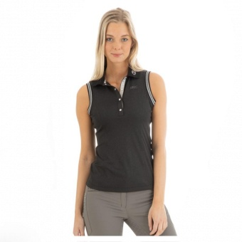 "ANKY Sleeveless Polo Shirt ""Black"""