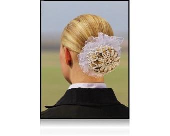 NYHET SD Design hårnät i pärlor och kristaller