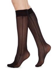 Swedish Stockings Astrid Fishnet knä