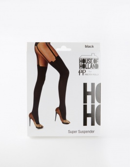 Pretty Polly House of Holland suspender tights 30 den