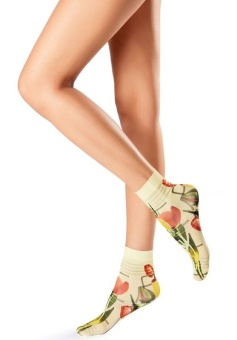 Oroblu Flower picture socks