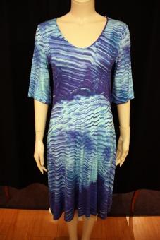 Cotonel turkosmönstrad klänning