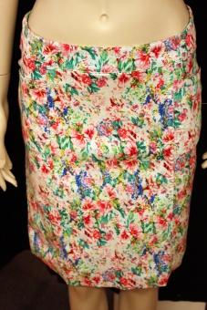 Cotonel blommig kjol