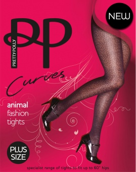 Pretty Polly - Curves animal fashion tights - Plus size