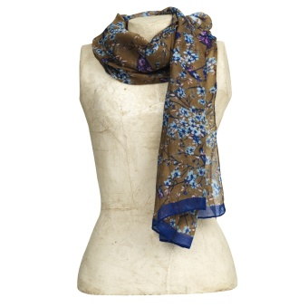 The Moshi Scarf Laura brown/green