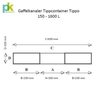 Tippcontainer Tippo 1600 L