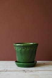 Köpenhamn Kruka Glaserad Grön 18 cm