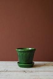 Köpenhamn Kruka Glacerad Grön 14 cm