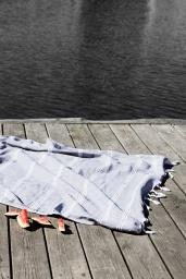 Hamamhandduk Grå 95 x 175 cm