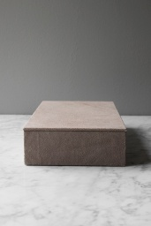 Suede Box Rectangular Nude