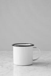 Kaffemugg Emaljerad Vit