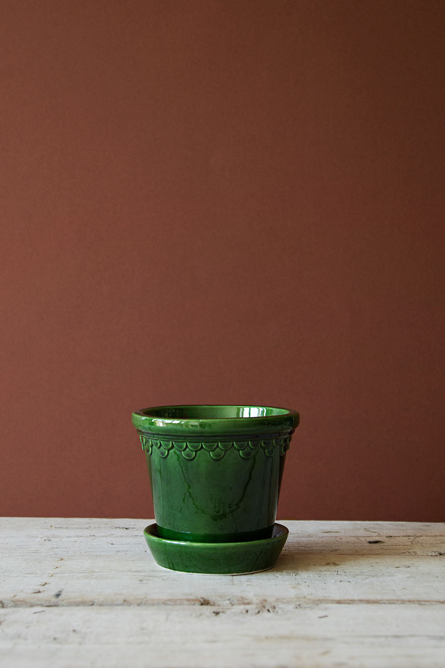 Köpenhamn Kruka Glaserad Grön 14 cm