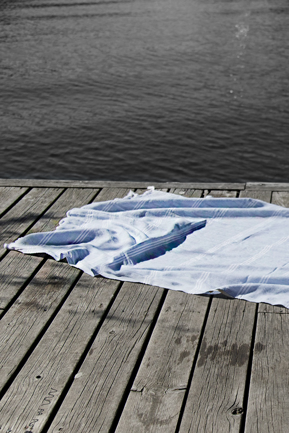 Hamamhandduk Ljusblå 95 x 175 cm