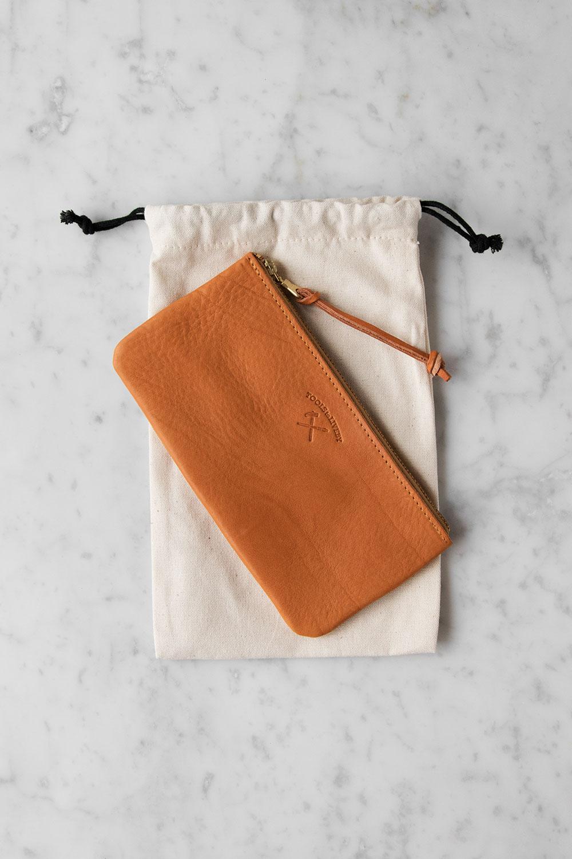 Plånbok/Pennfodral Tan