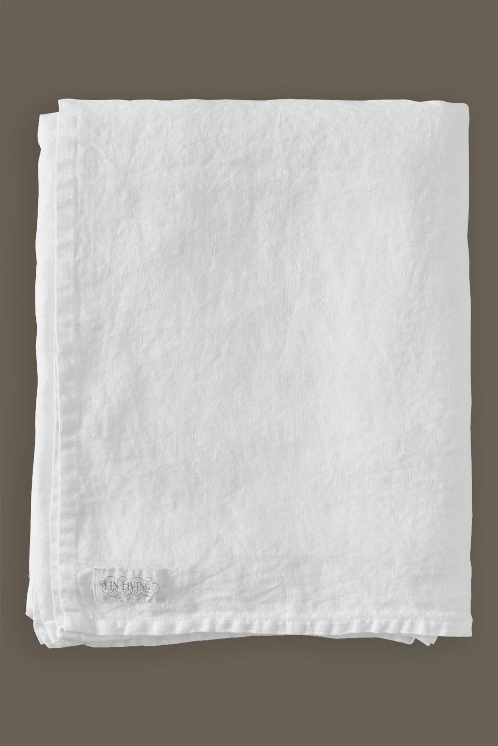 Underlakan White Washed Linen