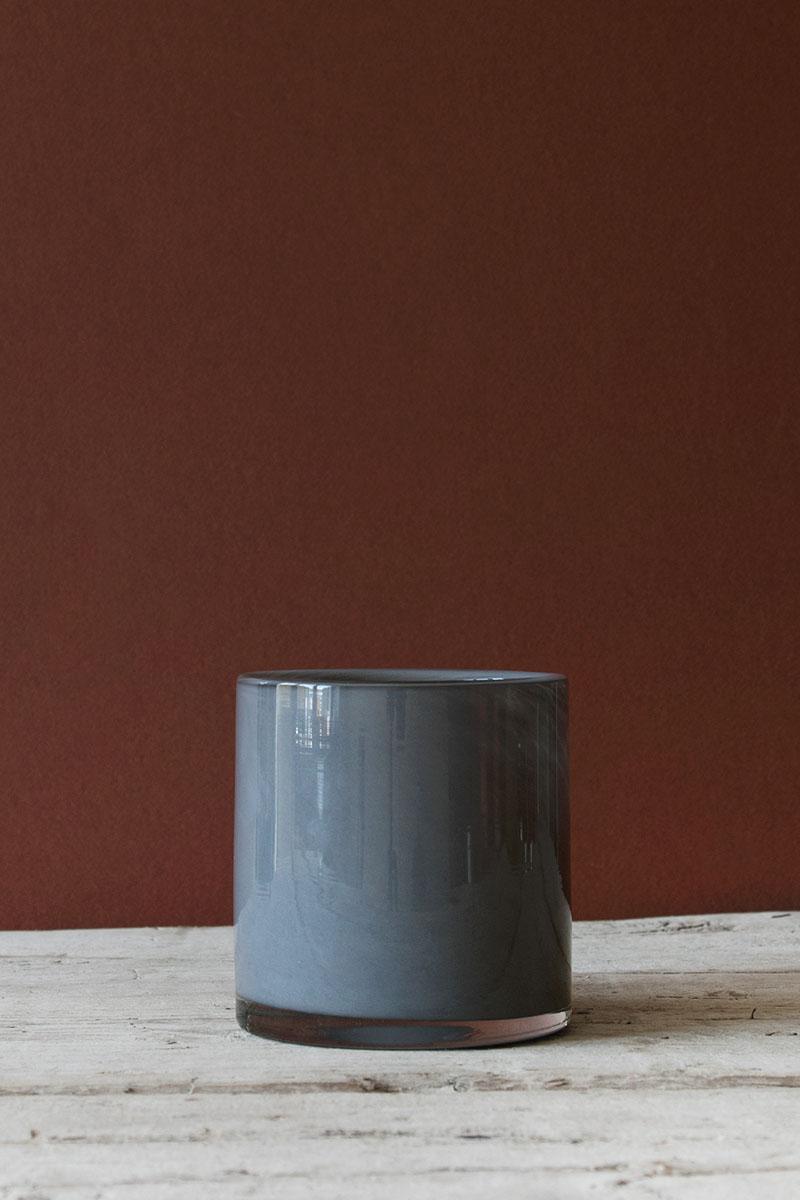 Ljuskopp i Återvunnet Glas 10 cm Grå