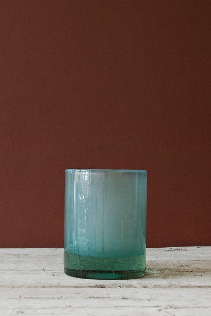 Ljuskopp i Återvunnet Glas 12,5 cm Ljusblå