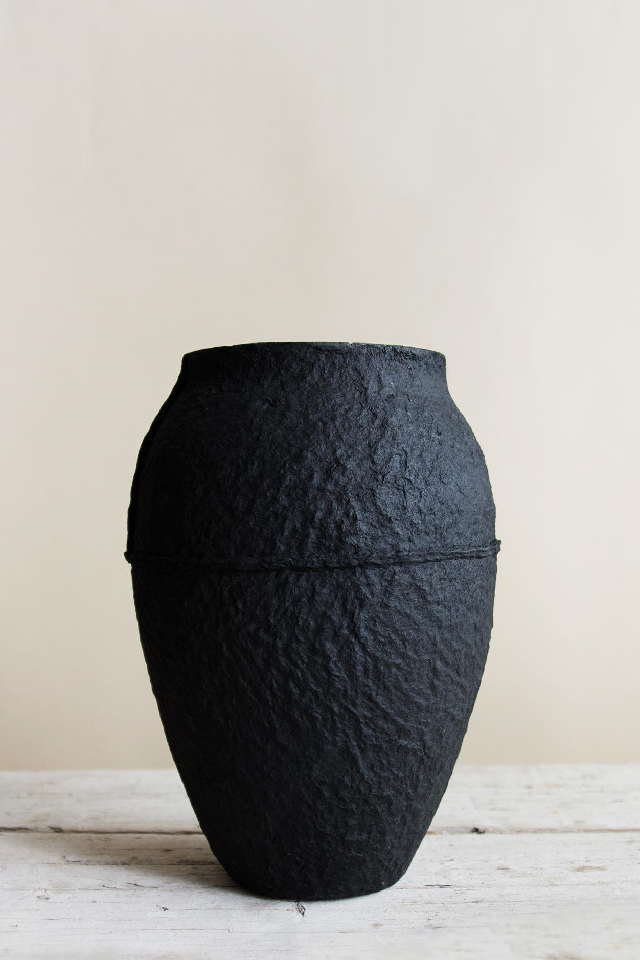 Papier Vas Svart H 26,5 cm