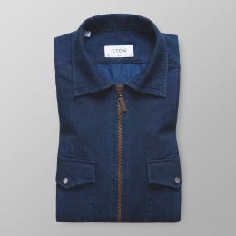 Slim Fit Indigo zip