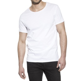 Crew-Neck Relaxed White